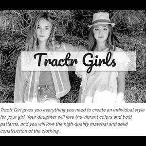 Tractr Girls Pull-on Denim Leggings